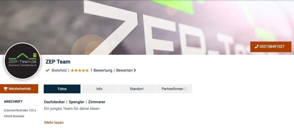 ZEP Team Dachdecker Bielefeld