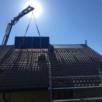 Anbringung der Solarkollektoren