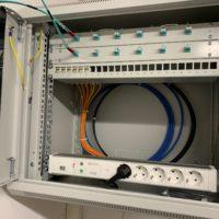 Netzwerkverteilung im Bau